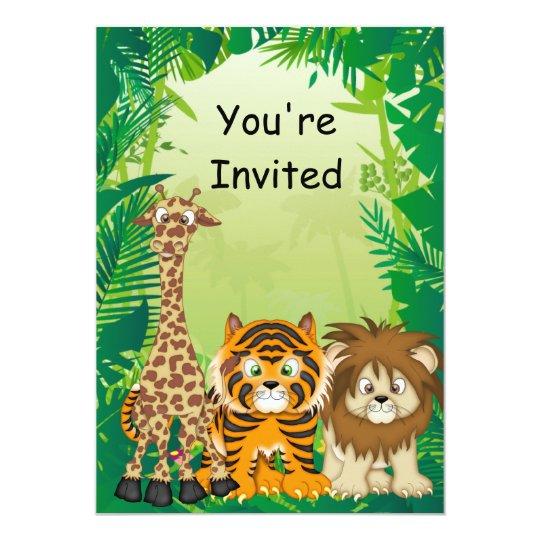Jungle Theme Birthday Invitations