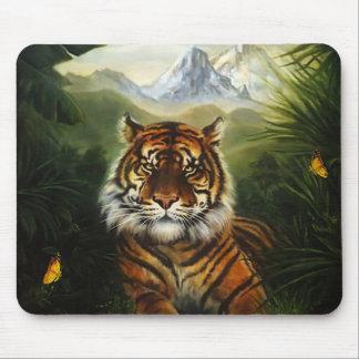 Jungle Tiger Landscape Mouse Pad