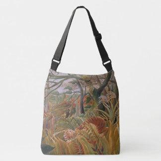 Jungle Tiger Wildlife Animal Leaves Tote Bag