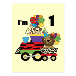 Jungle Train 1st Birthday T-shirts and Gifts Postcard