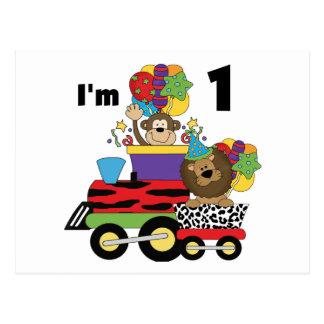 Jungle Train 1st Birthday T-shirts and Gifts Postcard