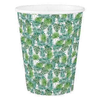 Jungle Tropical Leaves Elegant Nature Paper Cup