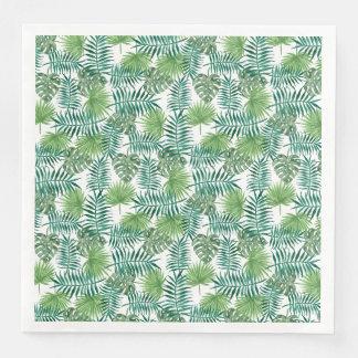 Jungle Tropical Leaves Elegant Nature Paper Serviettes