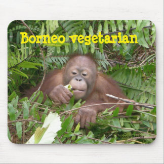 Jungle Vegetarian Orangutan Veggies Mouse Pad