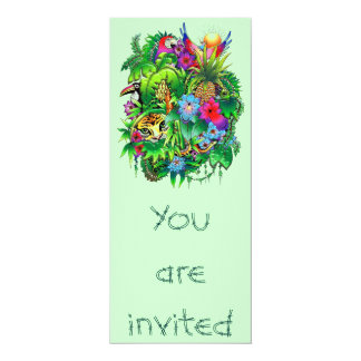 Jungle Wild Animals and Plants Invitation