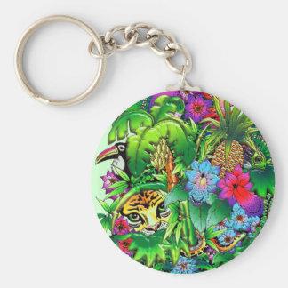Jungle Wild Animals and Plants Keychain