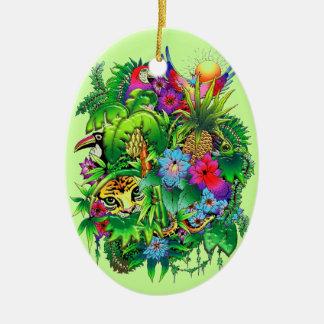 Jungle Wild Animals and Plants Ornament