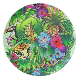 Jungle Wild Animals and Plants   Plate