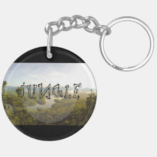 Jungle - wowpeer Double-Sided round acrylic key ring