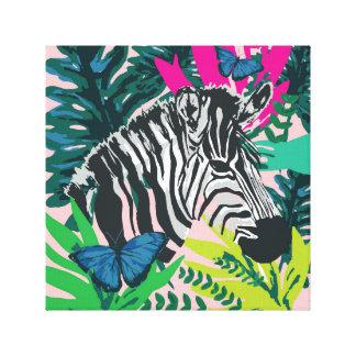 Jungle 'Zebra' Print Canvas Print