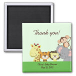 Jungle Zoo Party Birthday Baby Shower Favour Magne Fridge Magnet