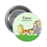JUNGLE ZOO PARTY NAME TAG Personalised Button