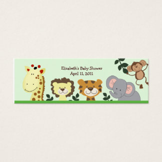 Jungle Zoo Party Shower / Birthday Favor Tag Mini Business Card