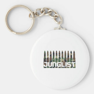Junglist Camouflage Basic Round Button Key Ring
