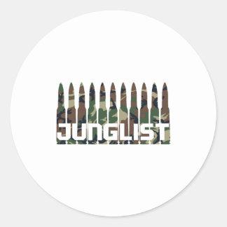 Junglist Camouflage Classic Round Sticker