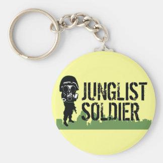 Junglist Soldier Basic Round Button Key Ring