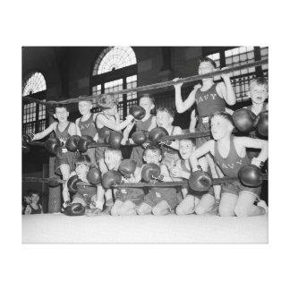 Junior Boxing 1939 Canvas Print