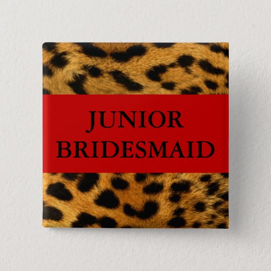 Junior Bridesmaid 15 Cm Square Badge