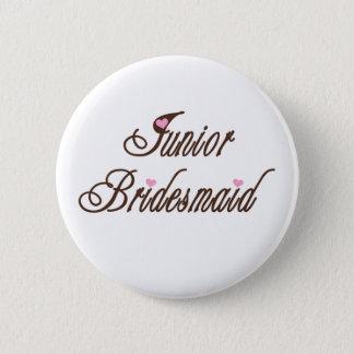 Junior Bridesmaid Classy Browns 6 Cm Round Badge