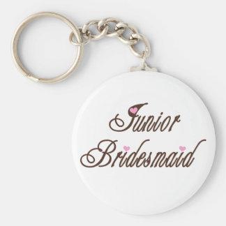 Junior Bridesmaid Classy Browns Key Ring