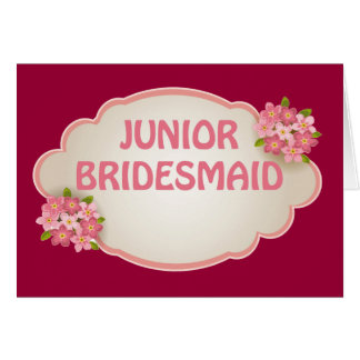 Junior Bridesmaid (pink floral) Card