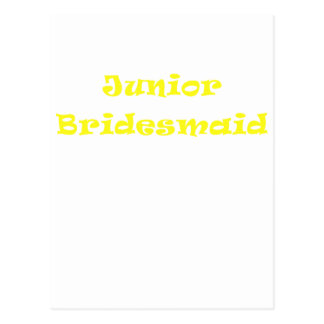 Junior Bridesmaid Postcard