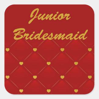 Junior Bridesmaid Square Sticker