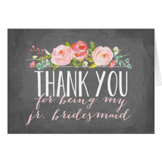 Junior Bridesmaid Thank You | Bridesmaid Card