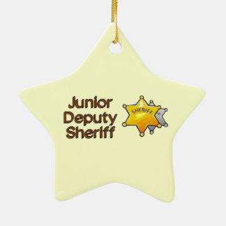 Junior Deputy Sheriff Ceramic Star Decoration