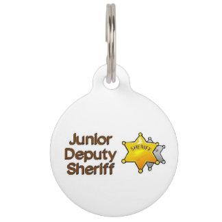 Junior Deputy Sheriff Pet Name Tags
