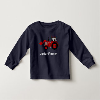 """Junior Farmer"" and Red Loader Tractor Toddler T-Shirt"