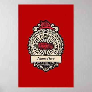 Junior Firefighter s Badge Posters