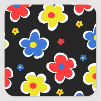 Junior Florals Square Sticker