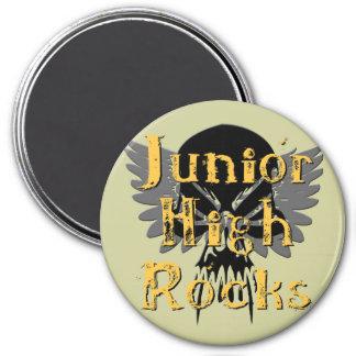 Junior High Rocks - Skull Wings Fridge Magnets