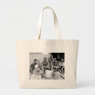 Junior Marines, 1919 Large Tote Bag
