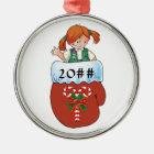 Junior Mitten Red Hair Christmas Ornament