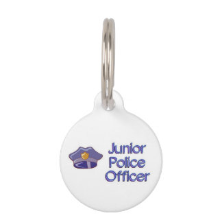 Junior Police Officer Pet ID Tags