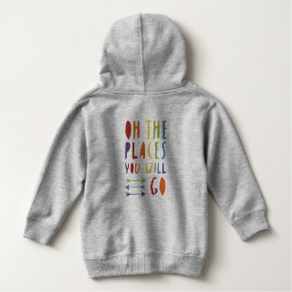 Junior Pride | Places you will go | Rainbow Colour Hoodie