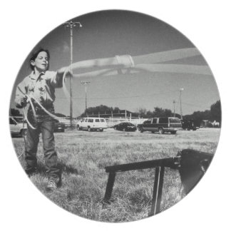 Junior Rodeo, girl(7-9)practising how to use Plate