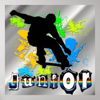 Junior - Skateboarding Poster
