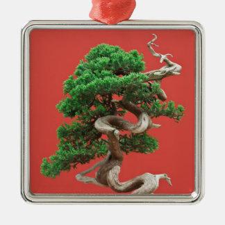 Juniper bonsai christmas tree ornament