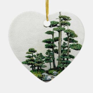Juniper Bonsai Forest Ceramic Heart Decoration