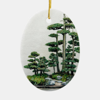 Juniper Bonsai Forest Christmas Ornament