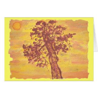 juniper tree sunset card