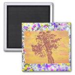 juniper tree sunset drip refrigerator magnets