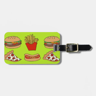 Junk food design luggage tag