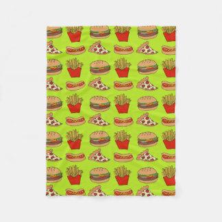 Junk food fleece blanket