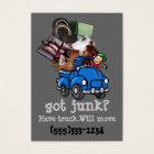 Junk Hauling Removal business template Business Card