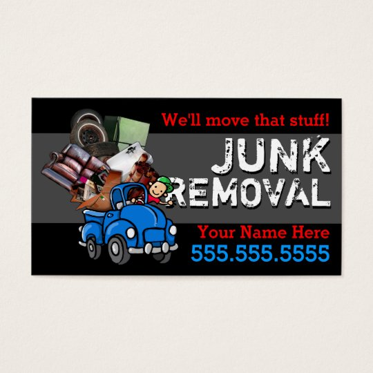 Junk Removal.Hauling.Got Junk.Customisable text Business Card