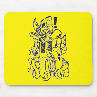 Junk / Spare-parts Clunky Robot Character Mouse Pad